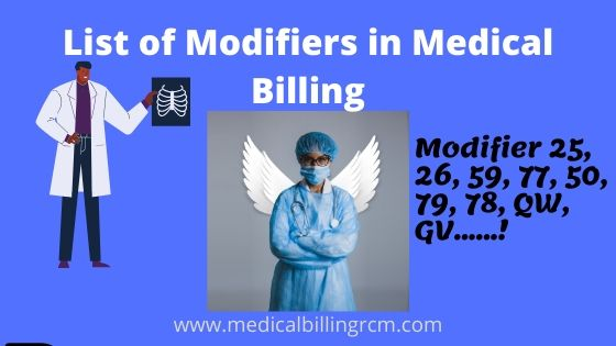 list of modifiers in medical billing