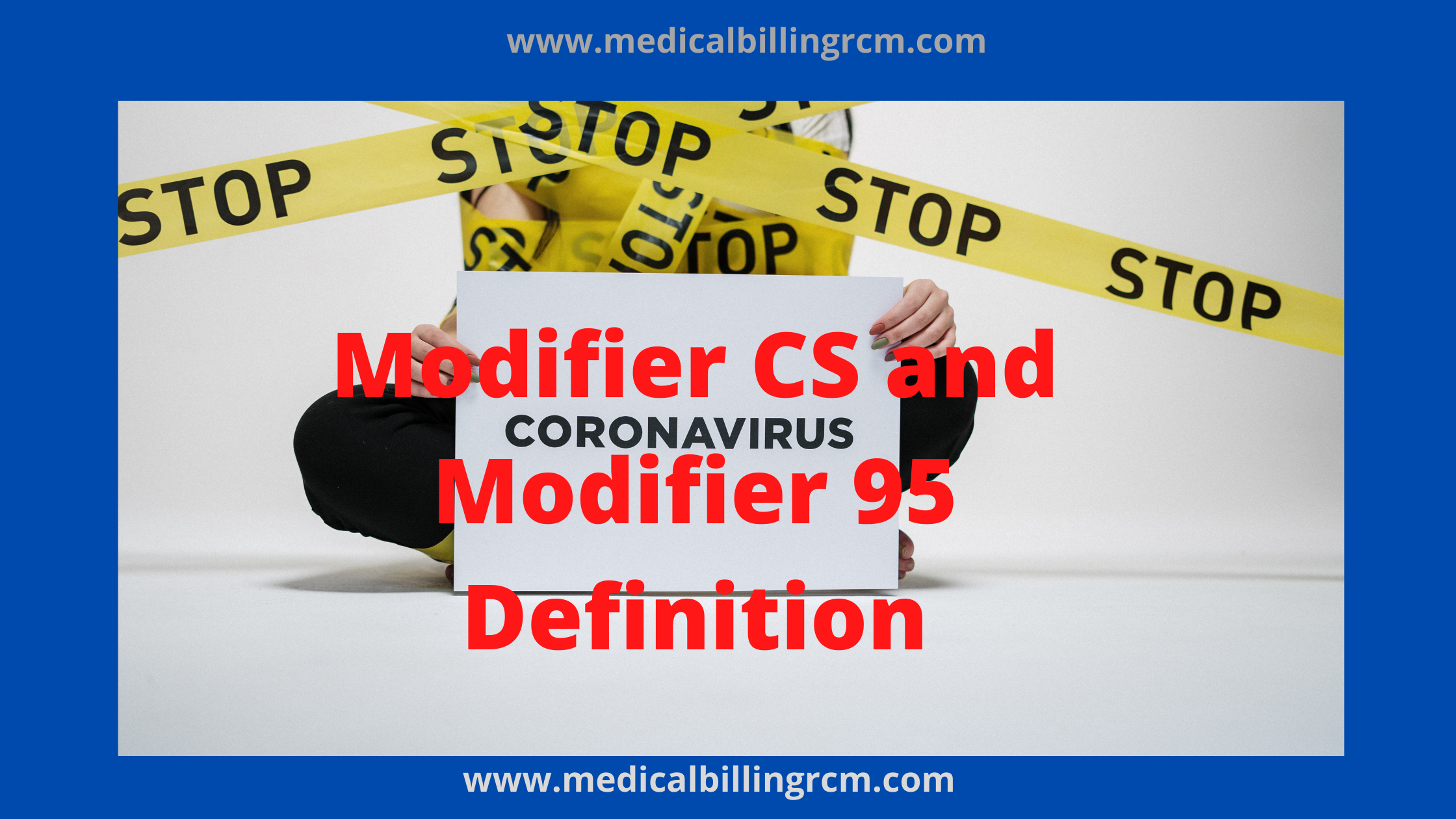 modifier cs and 95 for medicare claims