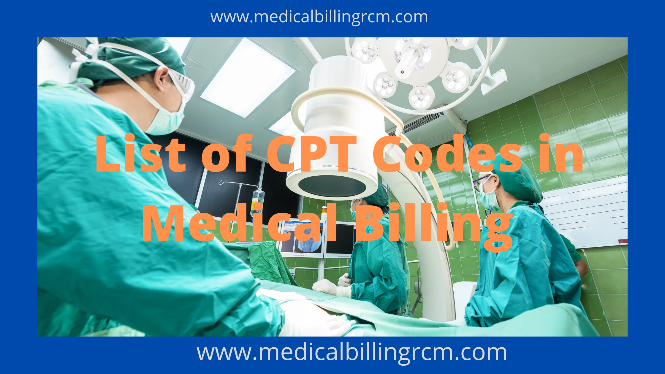 list of cpt codes in medical billing