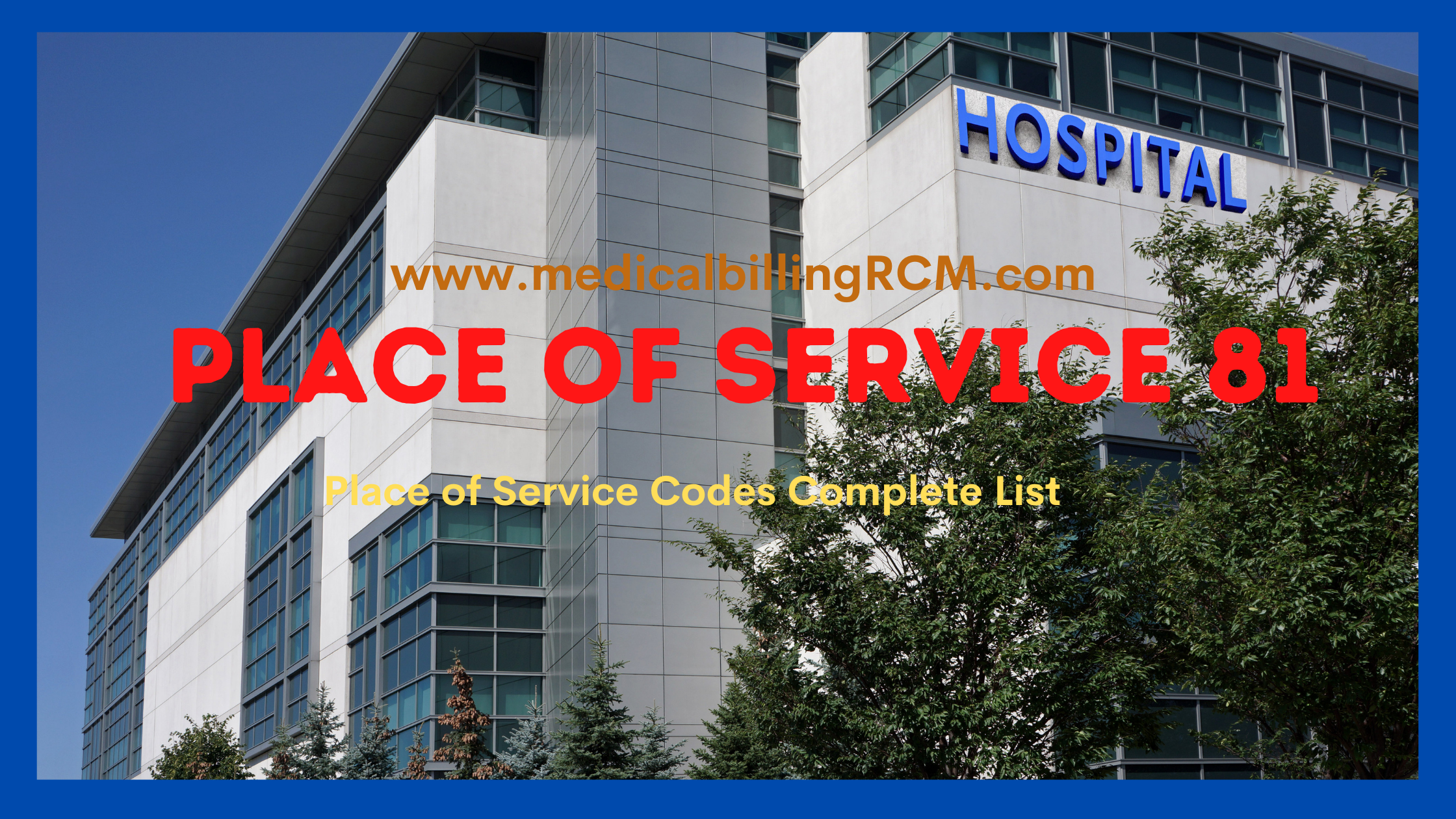 place of service 81 in medical billing